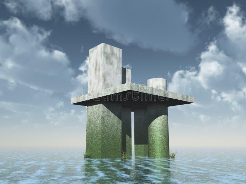 Futuristische architektur stock abbildung illustration von ozean 10804017 - Futuristische architektur ...