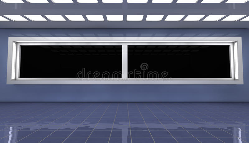 Futuristische Architektur 3d Lizenzfreie Stockbilder