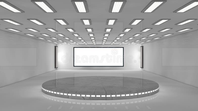 futuristische Architektur 3d vektor abbildung