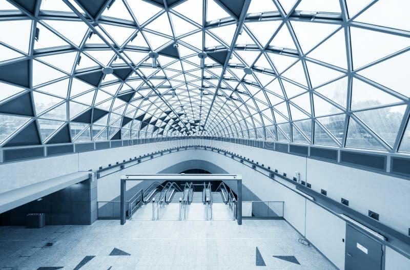 Futuristische architektur mit gro en fenstern stockbild bild von flur station 40875053 - Futuristische architektur ...