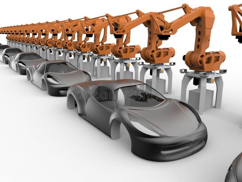 Futuristische Autofertigungsstraße vektor abbildung