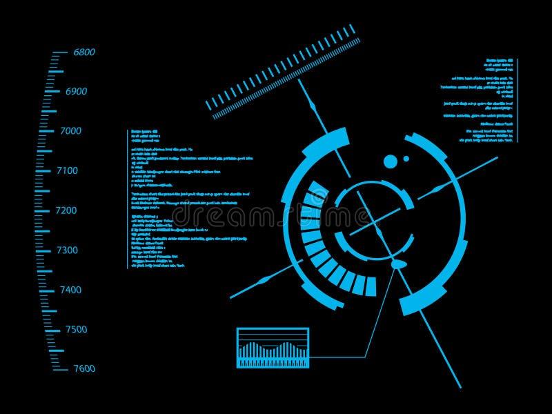 Futuristische Benutzerschnittstelle HUD lizenzfreie abbildung