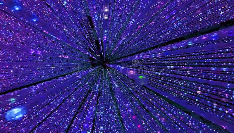 Futuristische blauwe melkwegachtergrond van Dots Light royalty-vrije illustratie