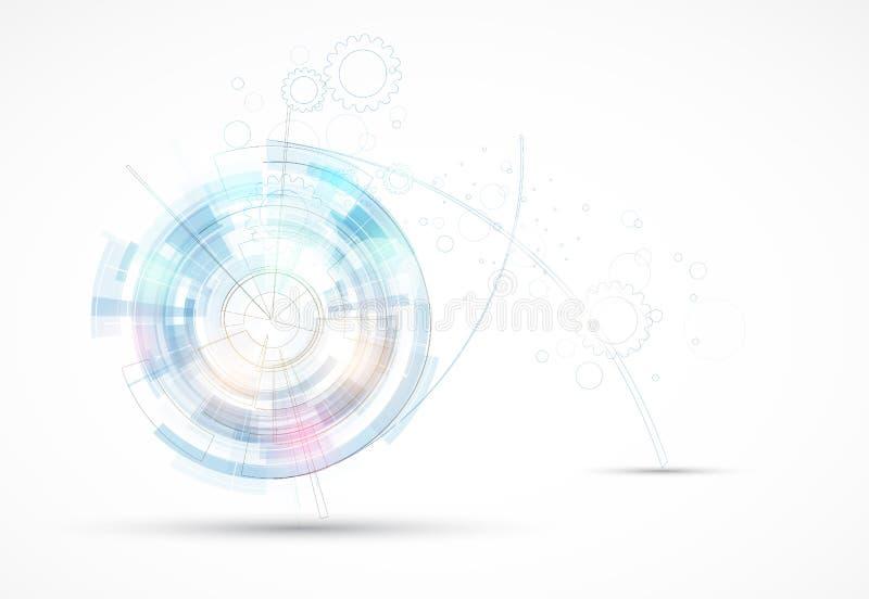 Futuristische de computertechnologiezaken van Internet stock illustratie