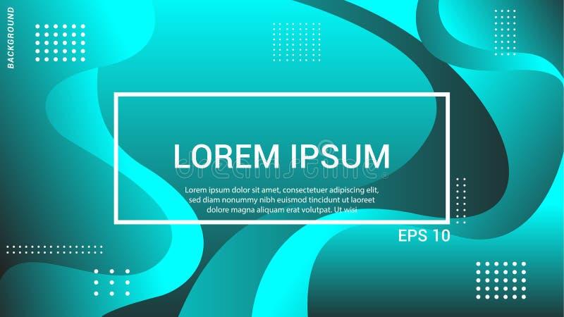 Futuristische Designlandungsseite EPS10 entziehen Sie Hintergrund Gr?ner Hintergrund vektor abbildung