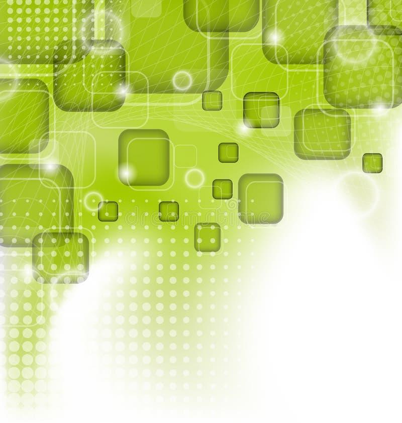 Futuristische Dreiecke, abstrakter grüner Hintergrund stock abbildung
