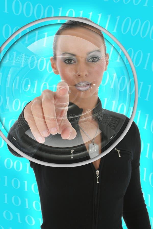 Futuristische Frau stockfotos