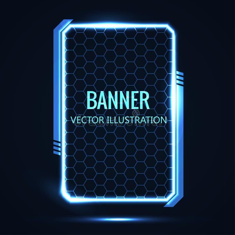 Futuristische gloeiende vectorillustratie als achtergrond vector illustratie