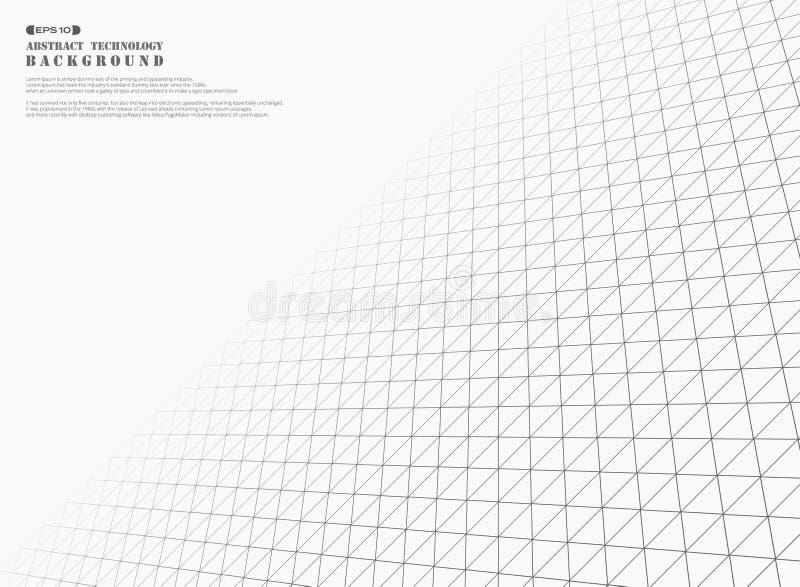 Futuristische grijze de dekkingsachtergrond van het driehoeken geometrische patroon stock illustratie