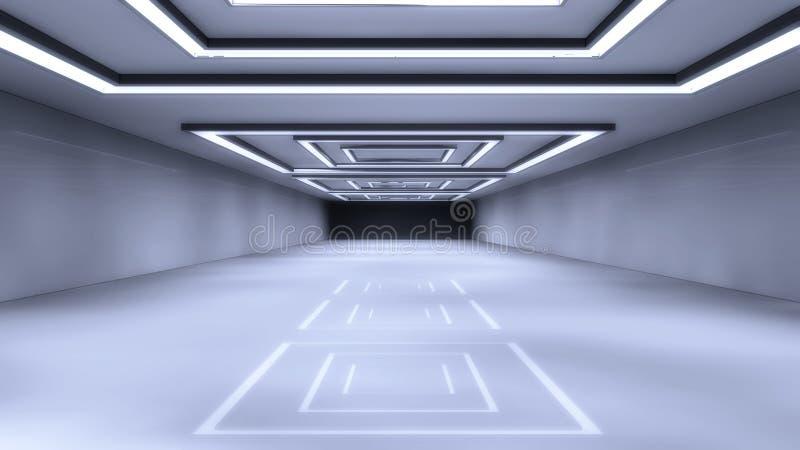 Futuristische Hallenarchitektur vektor abbildung