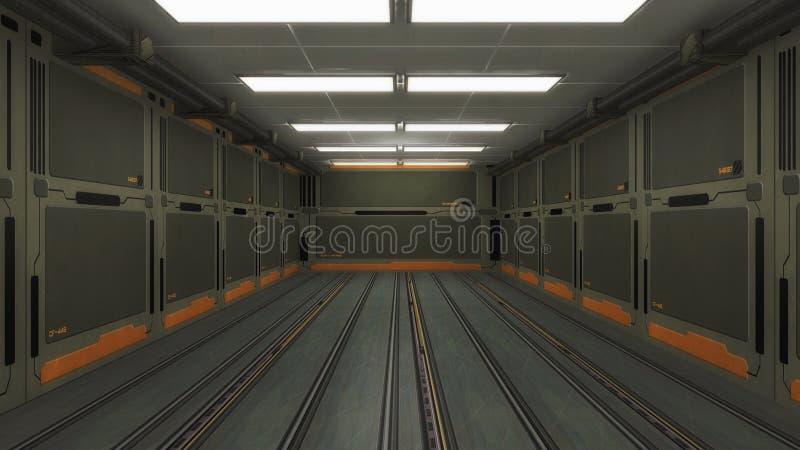 Futuristische Hallenarchitektur stockfotografie
