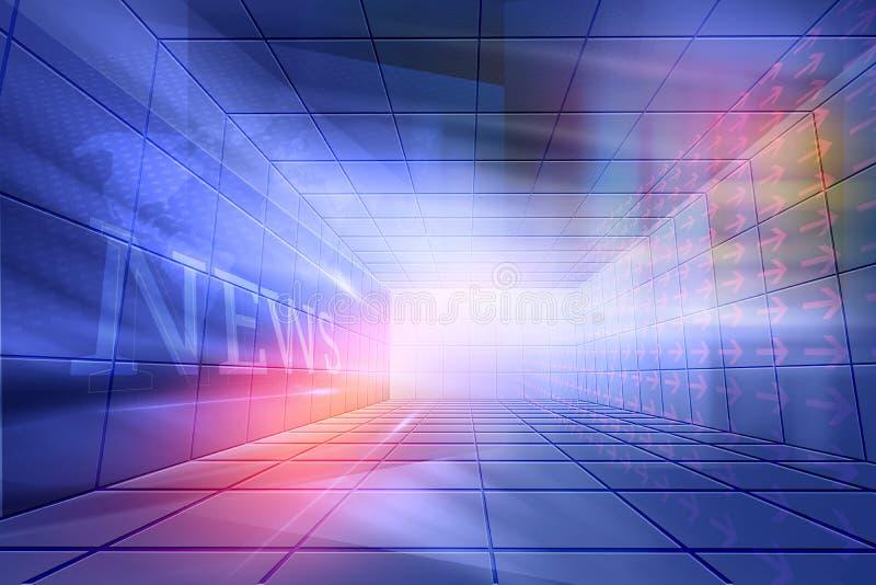 Futuristische Hightech-beiliegendes Nachrichten-Studio-Hintergrund-Konzept Ser vektor abbildung