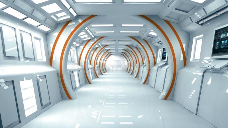 Futuristische innenarchitektur stock abbildung for Innenarchitektur zukunft