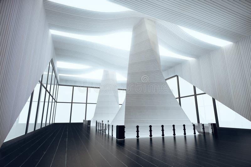 Innenarchitektur Halle futuristische innenarchitektur in der leeren halle mit schwarzem