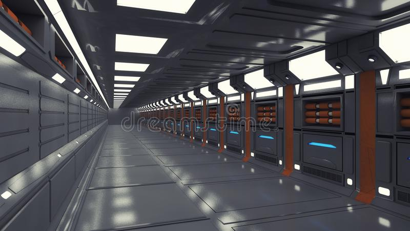 Futuristische Innenumwelt lizenzfreie abbildung