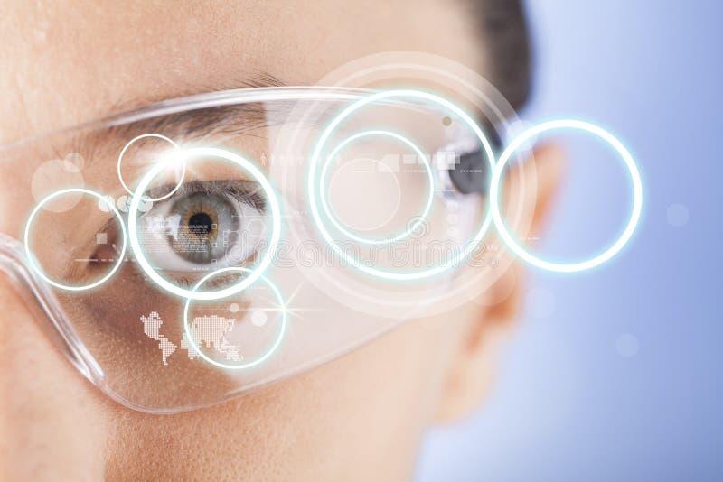 Futuristische intelligente Gläser lizenzfreie stockfotos