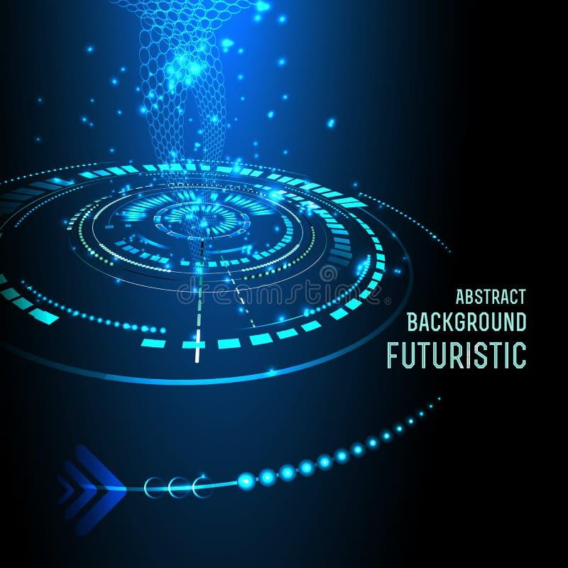 Futuristische interface, HUD, achtergrond vector illustratie