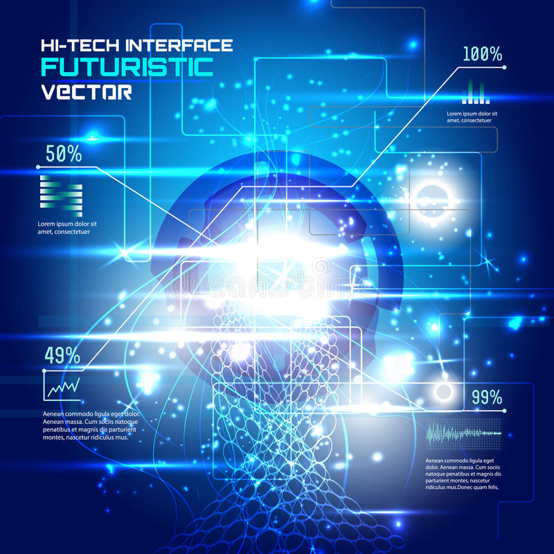 Futuristische interface, HUD, vector sc.i-FI stock illustratie