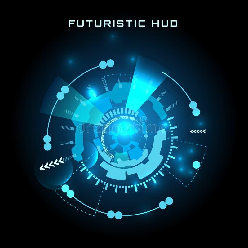 Futuristische interface, HUD, vectorachtergrond vector illustratie