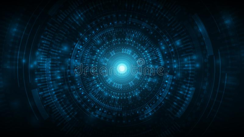 futuristische kosmische abstracte technologiedrager achtergrond, technologie cyberspace achtergrond, cyberspace game interface vector illustratie