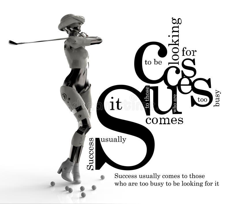 Futuristische manier androïde met citaat royalty-vrije illustratie