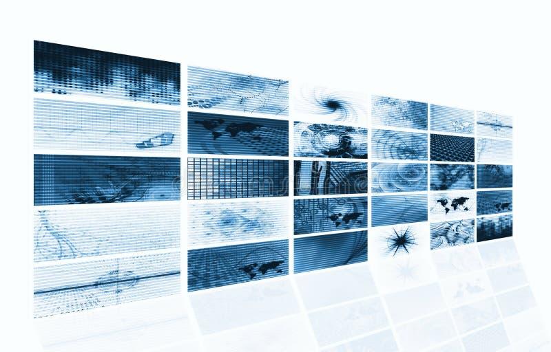 Futuristische Media-abstrakter Hintergrund lizenzfreie abbildung