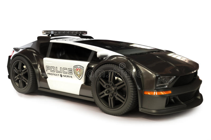 Futuristische Moderne Politiewagenkruiser royalty-vrije stock foto's
