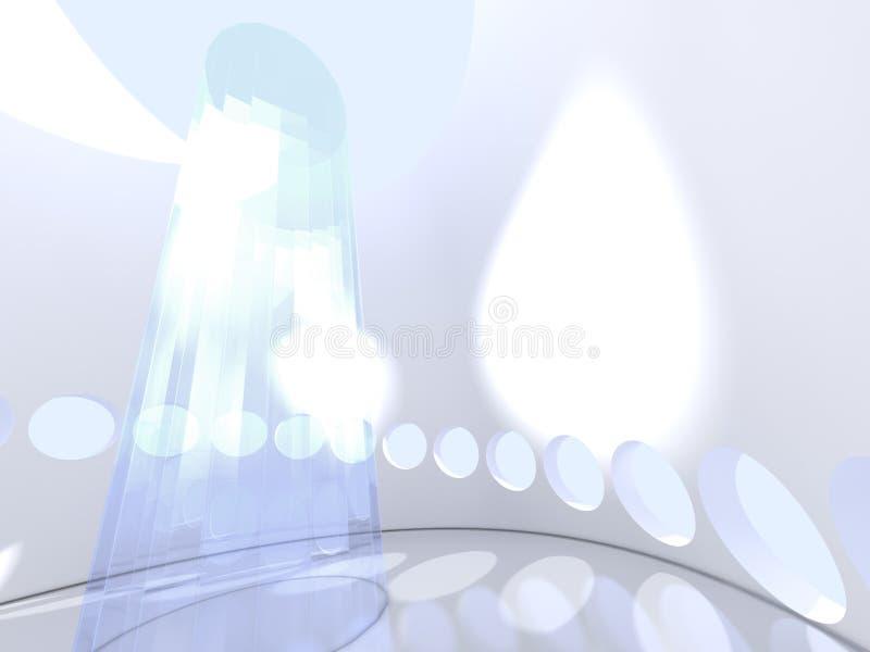 Futuristische moderne ronde binnen met glas vector illustratie