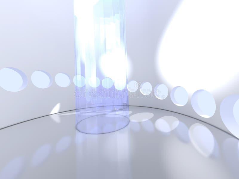 Futuristische moderne ronde binnen met glas stock illustratie