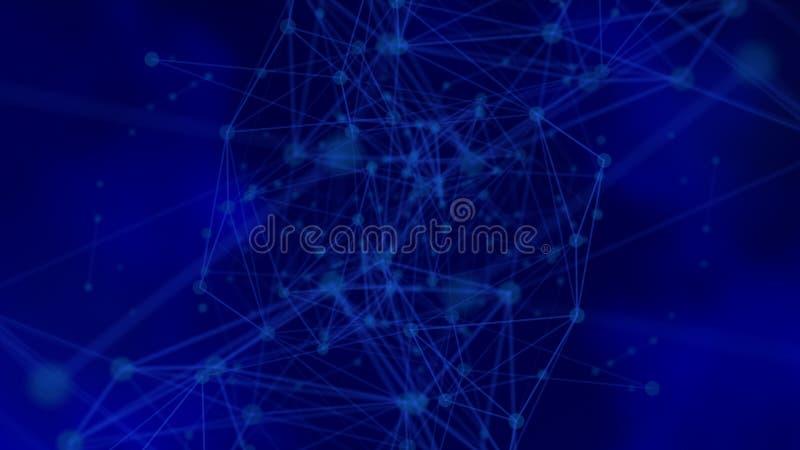 Futuristische netwerkachtergrond royalty-vrije illustratie