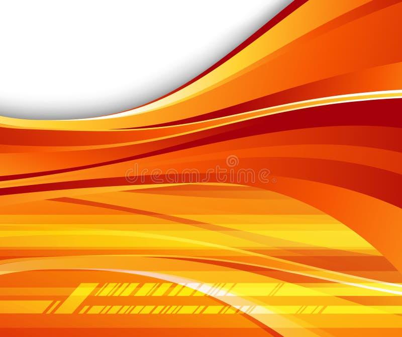 Futuristische oranje achtergrond - snelheid stock illustratie