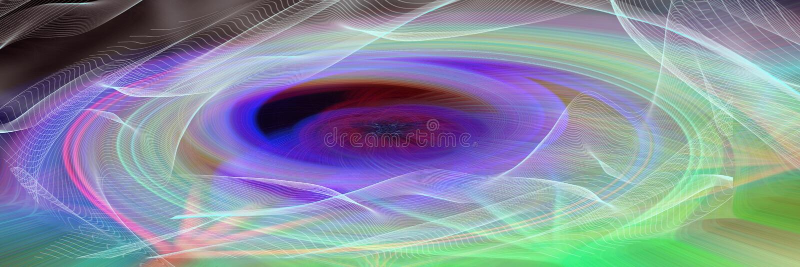 Futuristische panoramische abstracte achtergrond in violet-groene tonen vector illustratie