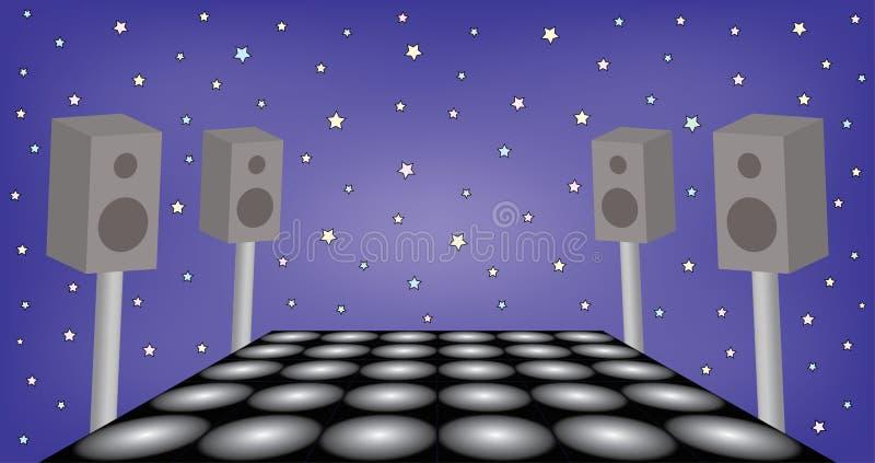 Futuristische ruimte voor danspartij stock illustratie
