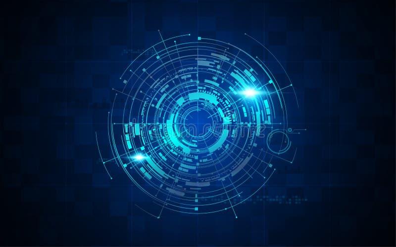 Futuristische sc.i-van het de technologiepatroon van FI het conceptenachtergrond vector illustratie