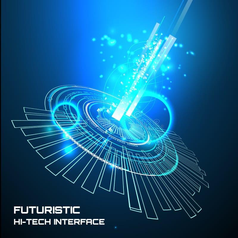 Futuristische Schnittstelle, HUD, Hintergrund lizenzfreie abbildung