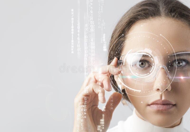 Futuristische slimme glazen stock foto's