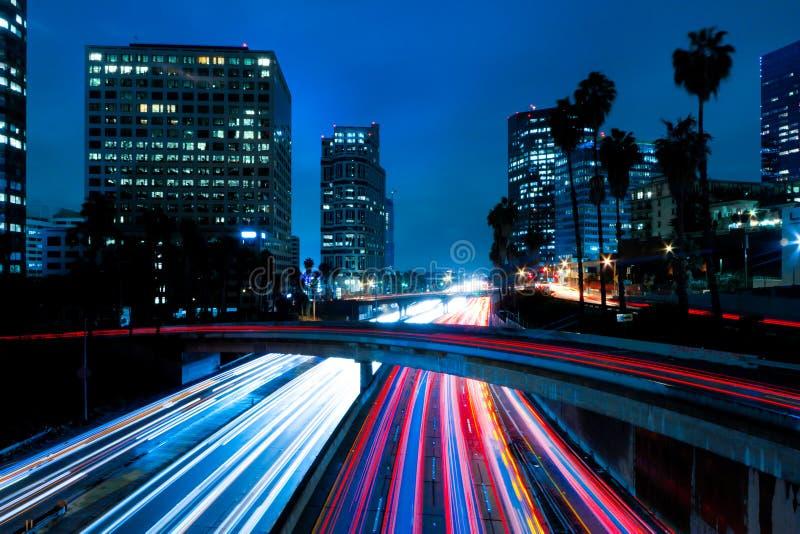 Futuristische städtische Stadt stockfoto