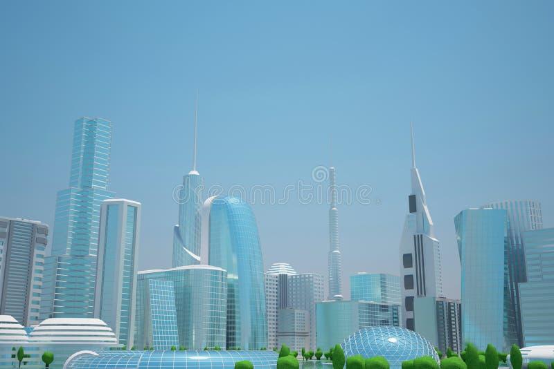 Futuristische Stadt Sci FI lizenzfreie stockfotos
