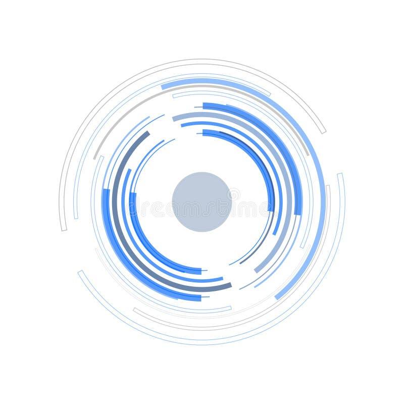 Futuristische Technologie-Kreise stock abbildung