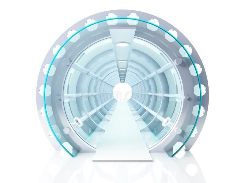 Futuristische tunnel vector illustratie