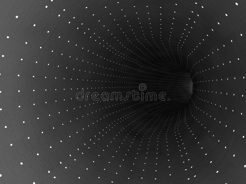 Futuristische tunnel royalty-vrije illustratie