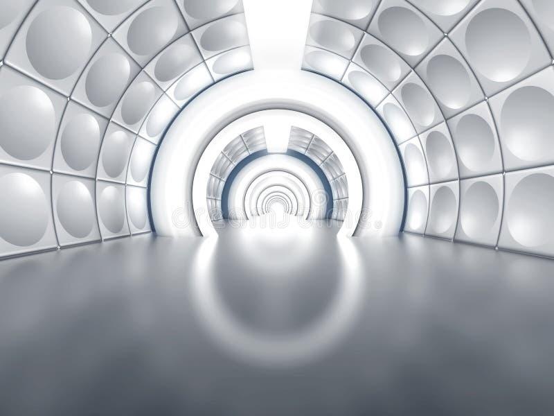 Futuristische tunnel zoals ruimteschipgang stock illustratie