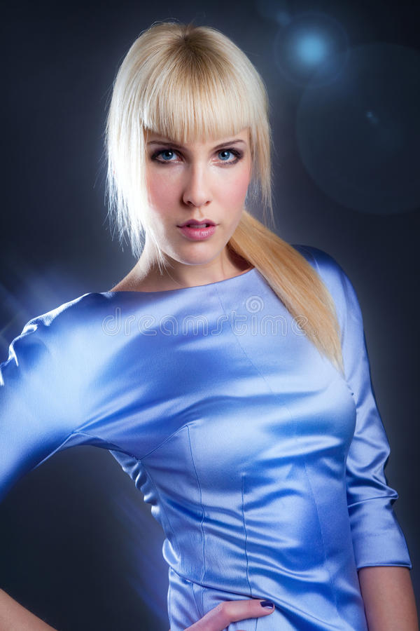 Futuristische vrouw royalty-vrije stock fotografie