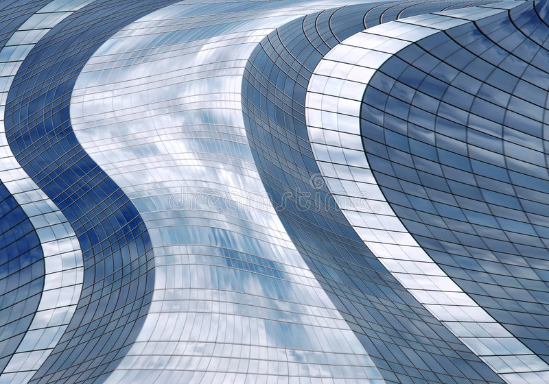 Futuristische wolkenkrabber stock afbeelding