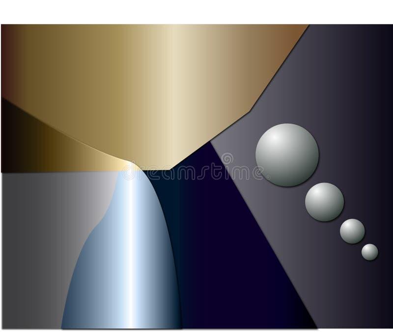 Futuristischer abstrakter geometrischer Hintergrund lizenzfreie abbildung