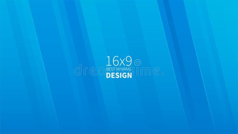 Futuristischer Designblauhintergrund Schablonen für Plakate, Fahnen, Flieger, Darstellungen und Berichte Minimales geometrisches, stock abbildung