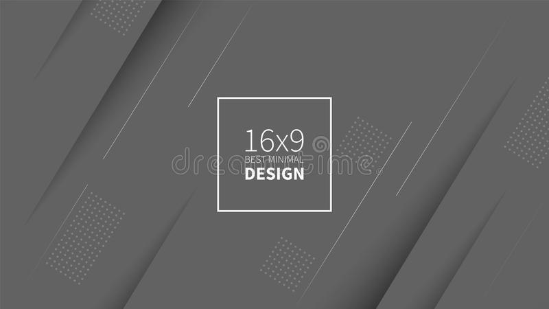 Futuristischer Designgrauhintergrund Schablonen für Plakate, Fahnen, Flieger, Darstellungen und Berichte Minimales geometrisches, lizenzfreie abbildung