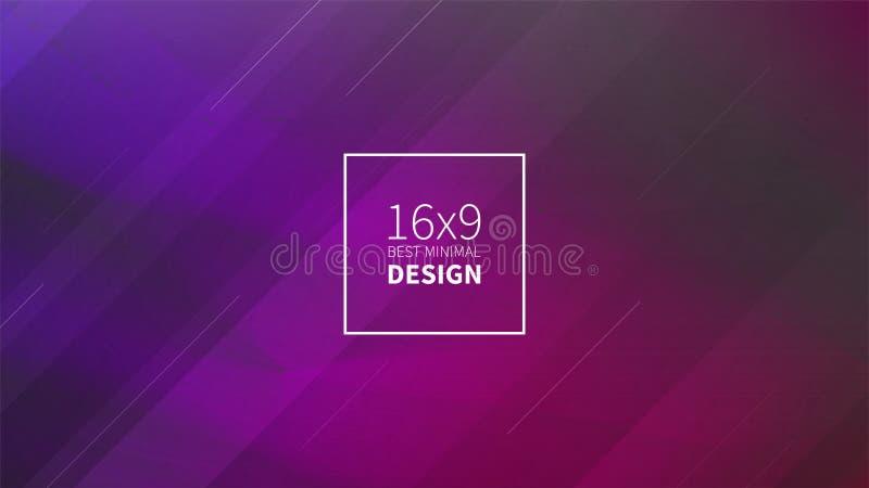 Futuristischer Designpurpurhintergrund Schablonen für Plakate, Fahnen, Flieger, Darstellungen und Berichte Minimale geometrische, vektor abbildung