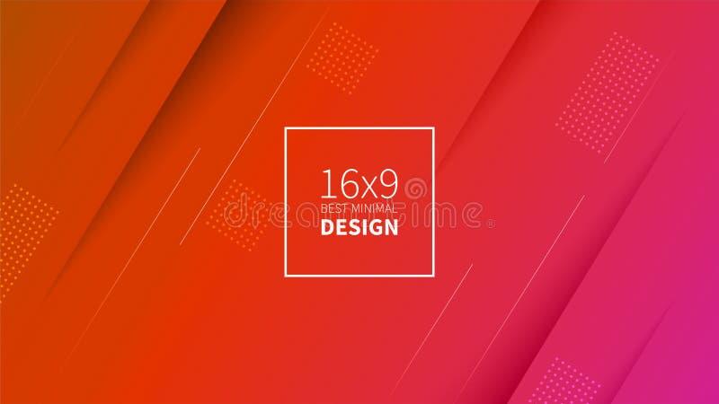 Futuristischer Designrothintergrund Schablonen für Plakate, Fahnen, Flieger, Darstellungen und Berichte Minimales geometrisches,  stock abbildung