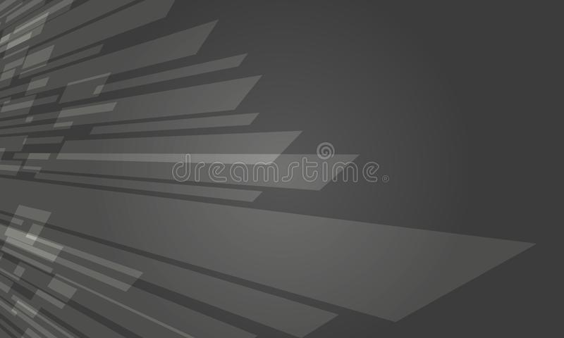 Futuristischer dunkler Grey Crystal Abstract Background Design stock abbildung